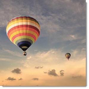 Ballon Fahrt bei Mydays