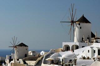 Santorini Windmühlen